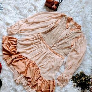 Lovely Romantic peach dress